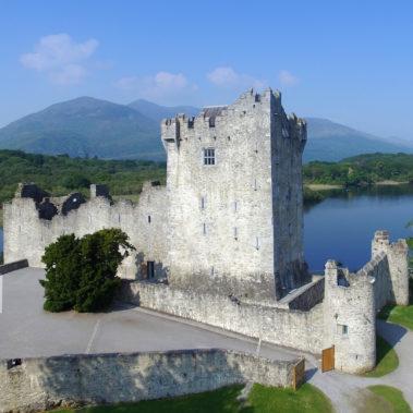 aerial drone castle