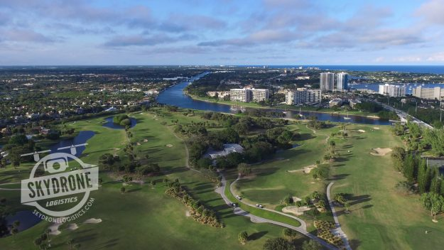 aerial photography golf