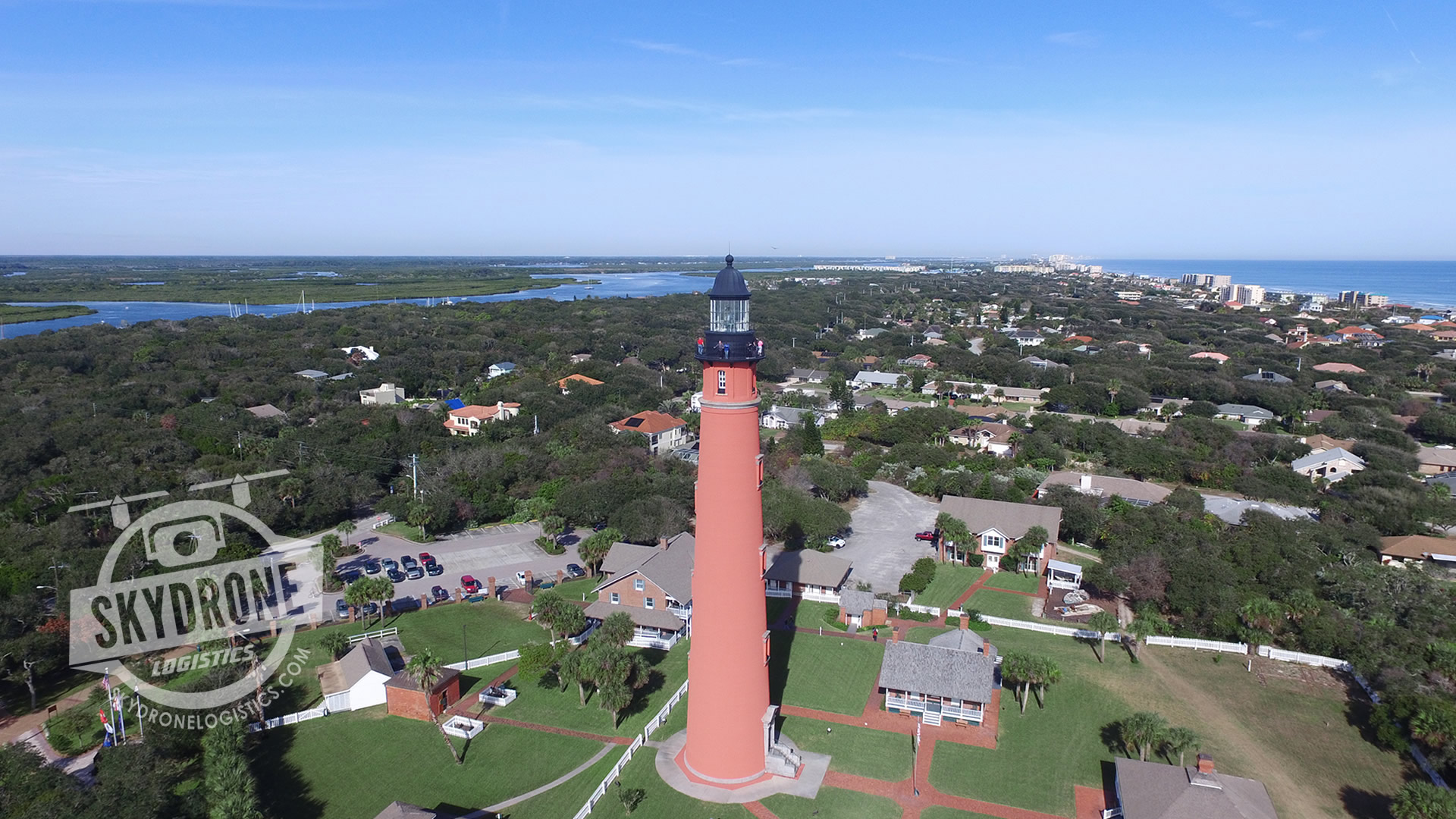 aerial photography lighthouse