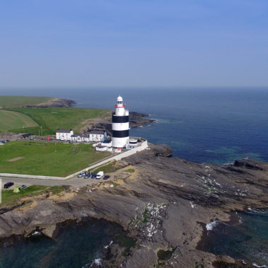 aerial drone lighthouse