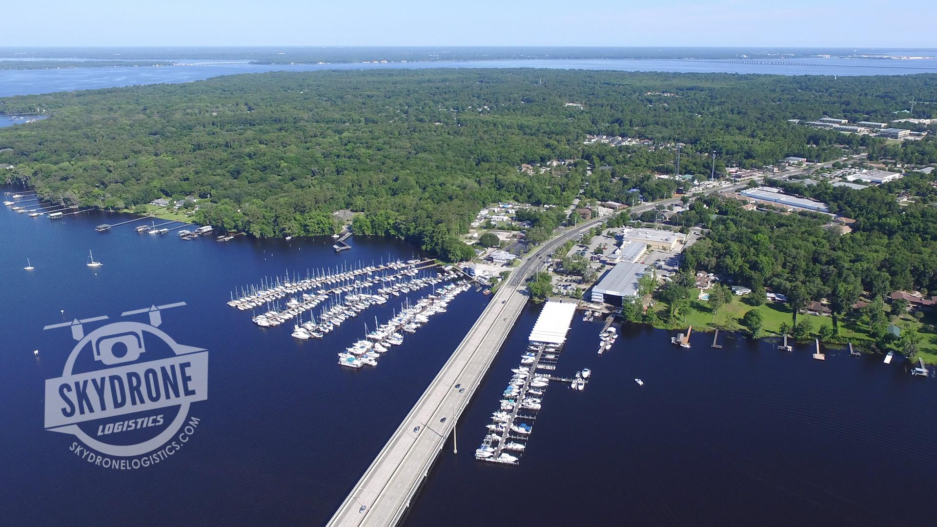 aerial photography marina